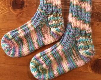 Children's hand knit socks
