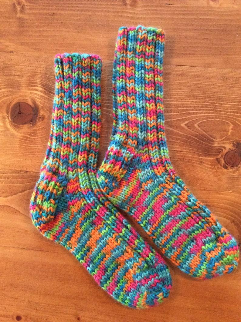 Children/'s hand knit socks