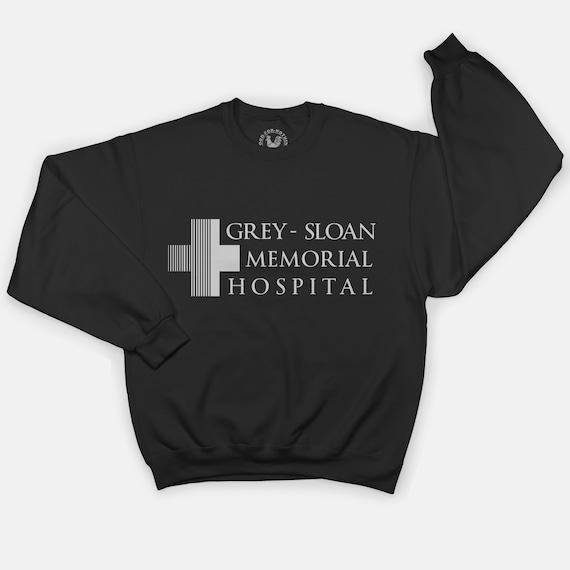 Grey anatomía sudadera camiseta gris Sloan Memorial Hospital | Etsy