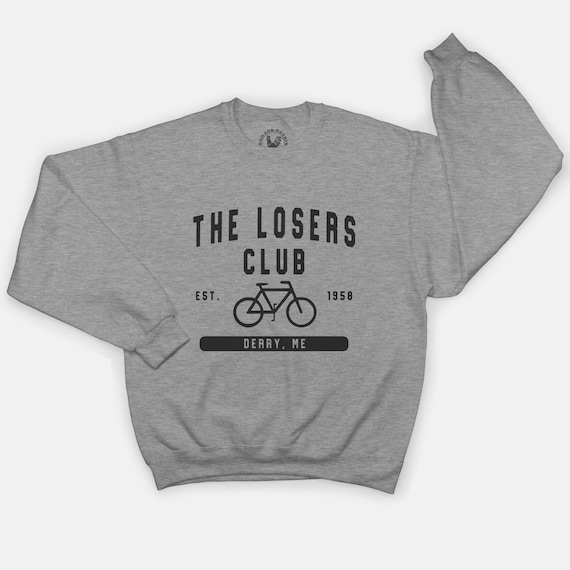It Losers Club Black Sweatshirt Horror Movie Stephen King Jumper Plus Size S-3XL