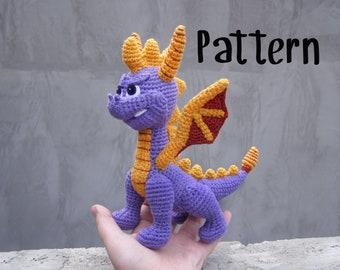 Amigurumi crochet pattern Spyro the Dragon interior toy EN/RU (PDF pattern)