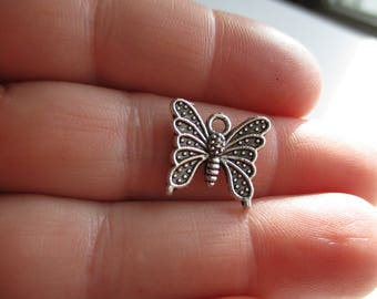 Set of 10 Butterfly Charms