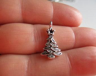 Set of 10 Christmas Tree Charms