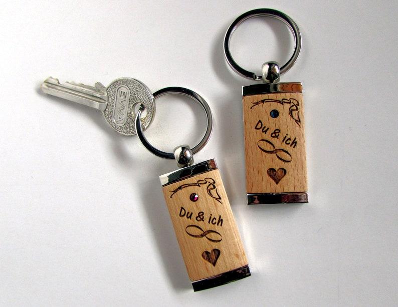 Keychain You&I Forever Valentine's Day Crystal Stone image 0