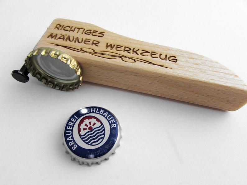 Bottle opener beer opener Wood Richtiges MännerWerk