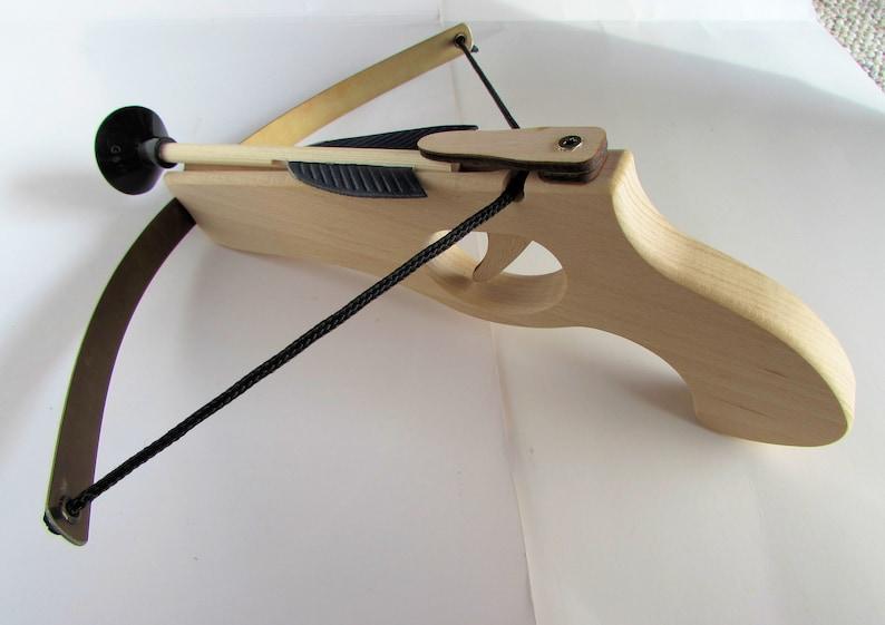 Crossbow pistol wooden pistol 26 cm o.Namen Fix-Fertig