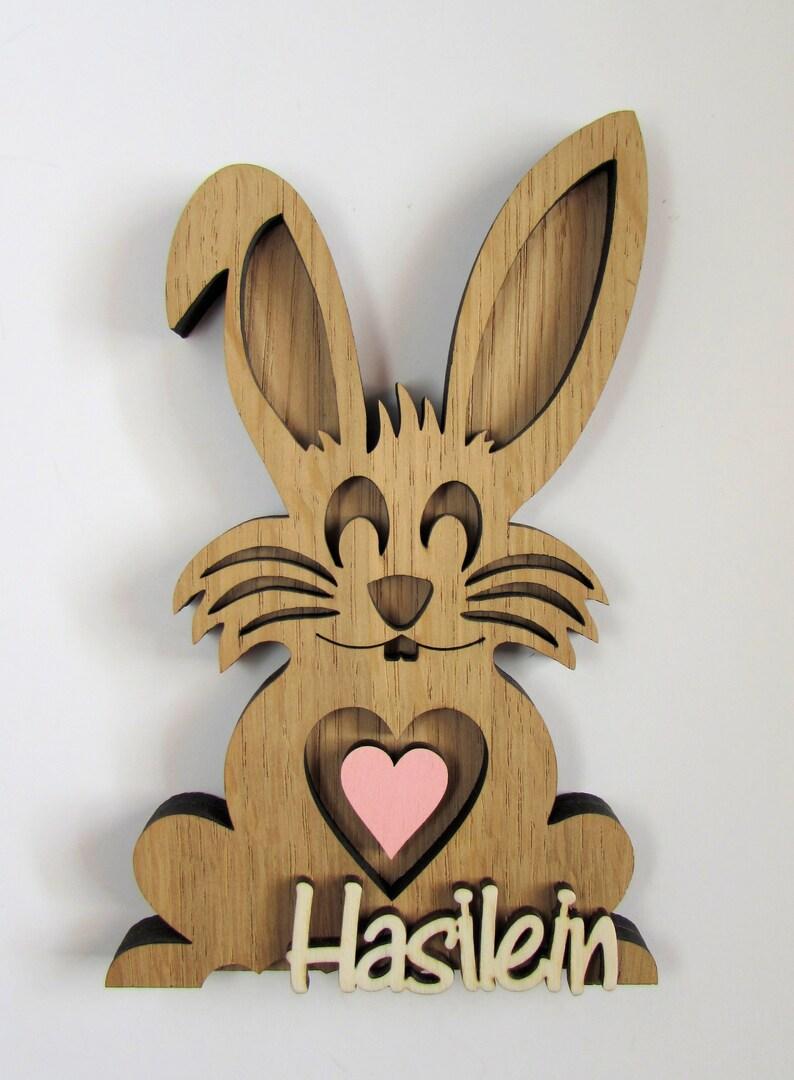 Wooden Bunny Hasilein Favorite Man image 0