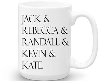 This Is Us, Jack And Rebecca, Randall Kevin and Kate, Valentine's Day Gift, Valentine Mug, Cute Mug for Valentine's Day, This Is Us Gift