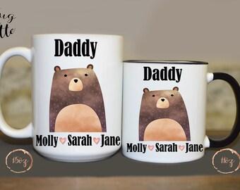 Gift From Girls, Papa Bear Mug, New Dad Gift, Bear Mugs, Papa Bear Gift, First Father's Day, New Dad Mug, Bear Mug, Dad To Be Mug, For Dad