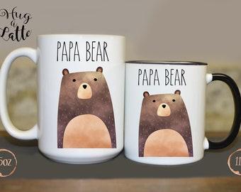 Papa Bear Mug, New Dad Gift, Bear Mugs, Pregnancy Mug, Papa Bear Gift, First Father's Day, New Dad Mug, Bear Mug, Dad To Be Mug, For Dad