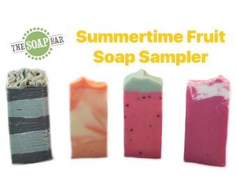 Handmade Soap Sampler | Summertime Fruit Collection | Vegan Soap | Bar Soap | Soap Samples | Soap Minis | Gifts