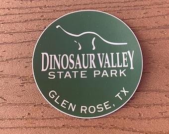 Dinosaur Valley State Park Round Green sticker
