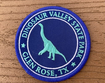 Dinosaur Valley State Park Purple and Teal Acrocanthosaurus Patch