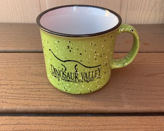 Dinosaur Valley State Park green mug