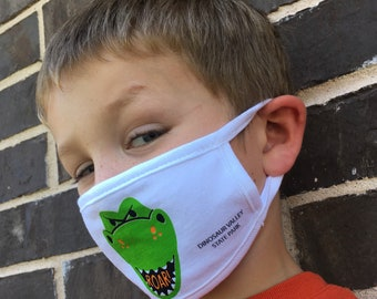 Dinosaur Valley State Park Youth Kids Cotton Face Mask