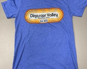 Dinosaur Valley State Park retro oval shirt