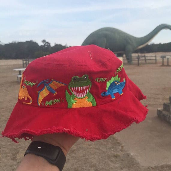 Dinosaur Valley State Park Youth Bucket Frayed Hat  cb94907f9c0