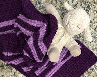Tiny Bubbles Crochet Baby Blanket