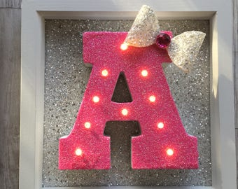 Personalised Letter Light Frame