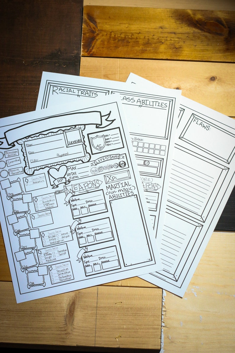 Downloadable Dungeons And Dragons Character Sheets The Big Bad Bruiser Melee Pack