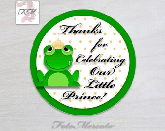 Frog Prince Thank You Gift Tags/Printable/Instant Digital Download