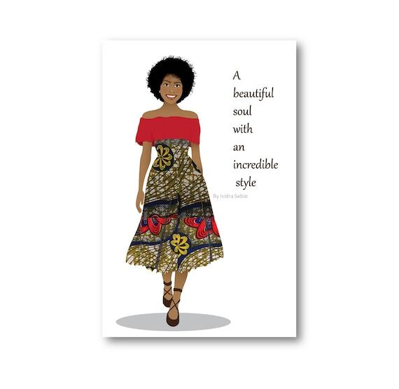Birthday Card African American Birthday Card For Women Etsy