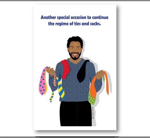 Birthday Card For Men African American Man Black Man Etsy