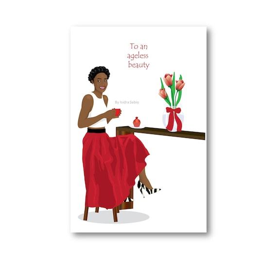 Birthday Card African American Women Stylish Birthday Card Etsy