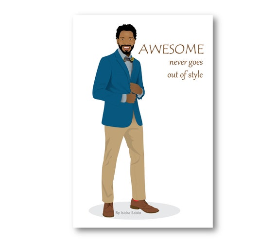 Birthday Card African American Man Stylish Card For Men Etsy