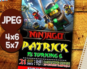 Ninjago Invitation, Ninjago Invitations, Ninjago Birthday, Ninjago Party, Ninjago Card, Ninjago Printable, Ninjago Birthday Party, Ninjago