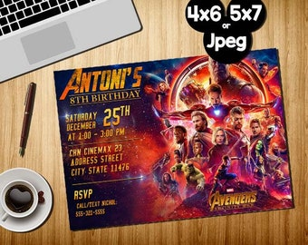 Superhero Invitation, Superhero Avenger Birthday Invitation, Avenger Invitation, Boy Invitation, Birthday Invitation, Invitation