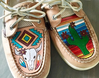 Custom Tooled Leather Sperrys