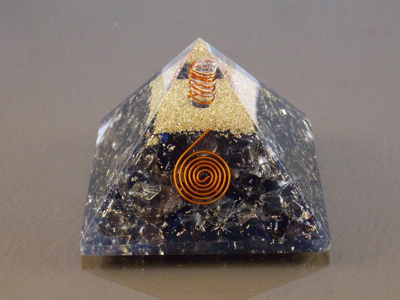 Smoky quartz Orgone pyramid EMF protection spiritual healing reiki orgone  energy purifier generator metaphysical gift