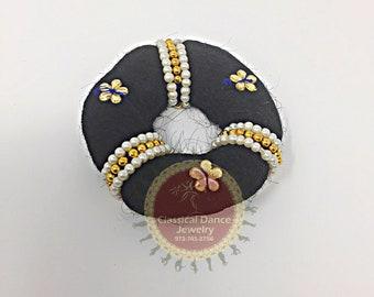 Small Hair Band Ring/Bun/donut for Rakodi Jewelry for Bharatanatyam/Kuchipudi Dance/ Weddings and Events