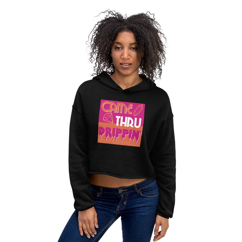 innovative design 795bb 2eff8 Came Thru Drippin Cardi B Women s Cropped hoodie Nike Air   Etsy