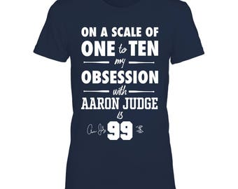 5f5b9bc6c Obsession - Aaron Judge T-shirt For Women - Gildan Women's T-shirt - New  York Nyc - Free Shipping - Officially Licensed Sports Apparel
