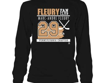 Marc-andre Fleury T-shirt - Fan Club, Pennsylvania Chapter - Gildan Long-sleeve T-shirt - Pennsylvania - Free Shipping - Officially Licensed