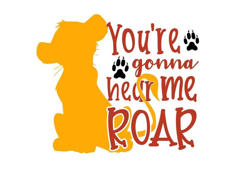 Lion King Simba Hear me Roar svg png studio3 cut file for Cricut and  Silhouette / Print and Cut / Sublimation 300 dpi Lion King shirt design