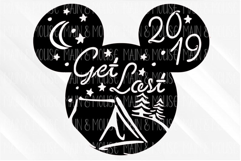 Disney Svg - Get Lost Svg - Disney Wilderness svg - wild and free svg -  camping disney - mickey head svg - disney vacation cut file cricut