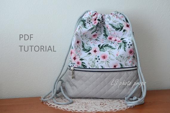 Drawstring Backpack Drawstring Bag Bag Tutorial Sewing Etsy
