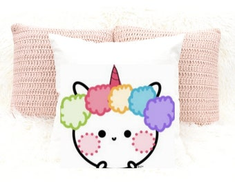Cute Unicorn Rainbow Pillow