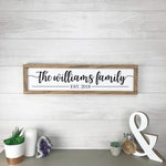 Family Name Sign Last Name Wall Decor Personalized Housewarming Gift Modern Farmhouse Wall Decor Gift Farmhouse Last Name Sign