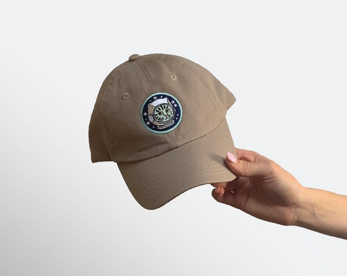 Hat for Small Heads - Women's Petite-fit (Cat Astronaut)