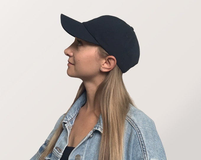 Hat for Small Heads - Women's Petite-fit (Navy Blue)