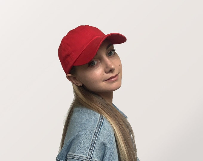 Hat for Small Heads - Women's Petite-fit (Red)