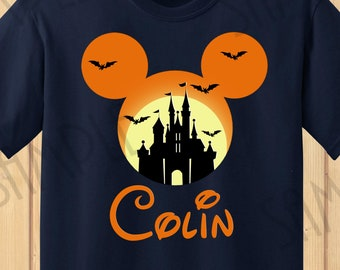 disney castle mickey head instant download custom halloween vacation iron on transfer printable mickeys not so scary birthday party shirts