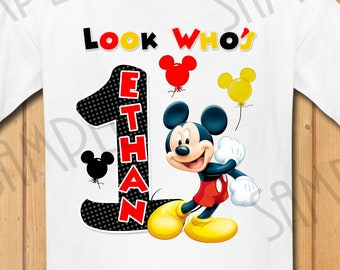 135c396c7 Disney Mickey Mouse Iron On Transfer Printable Birthday Boy digital  download Custom Matching Family Birthday Party shirt SVG Cut File