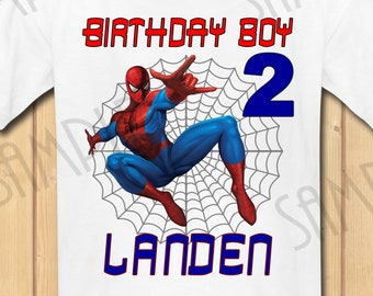 e6f0c57d Spiderman Birthday Boy INSTANT DOWNLOAD Personalized Matching birthday  shirt Iron on transfer Printable DIY Party shirt Family Vacation