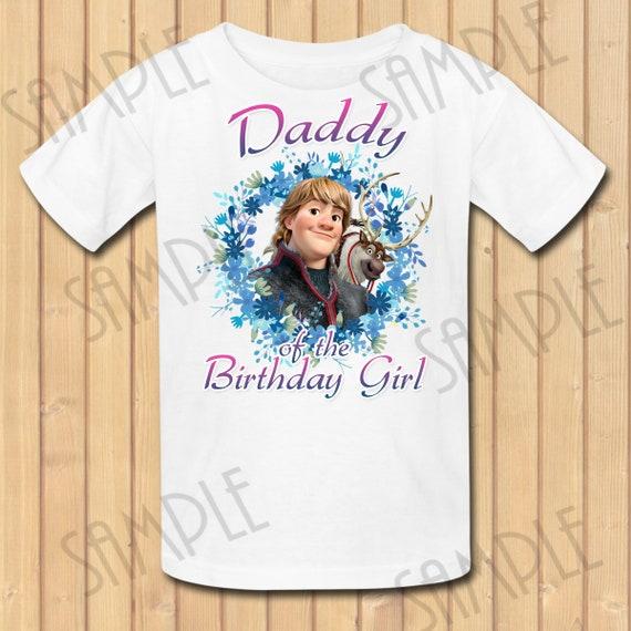 Disney Frozen Kristoff Sven SVG Daddy Of The Birthday Girl