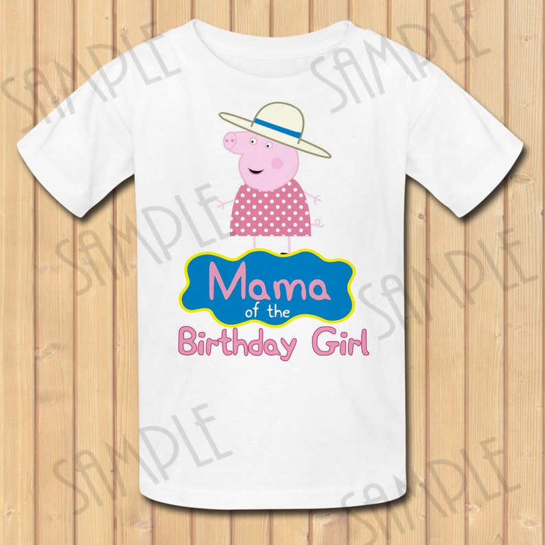 a29c73a4 Peppa Pig Mama of the Birthday Girl INSTANT DOWNLOAD | Etsy